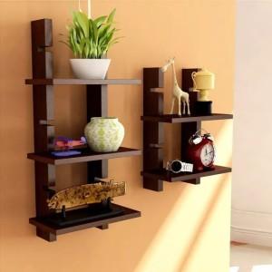 Onlineshoppee Handicraft Design MDF Wall Shelf