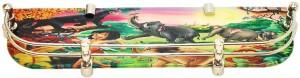 royaL indian craft Brass bracket Jungle Book Printed 18 Inch Glass Wall Shelf
