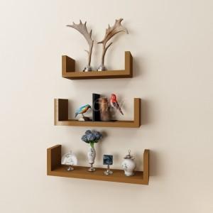 Onlineshoppee U Shape Floating Wooden Wall Shelf