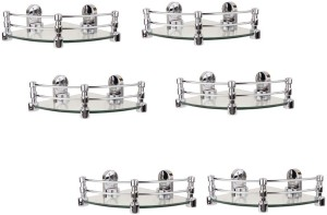 Royal Indian Craft 8 By 8 Inch Queen Bracket (Pack of 6) Glass Wall Shelf