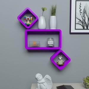 DriftingWood Cube & Rectabgle Wooden Wall Shelf