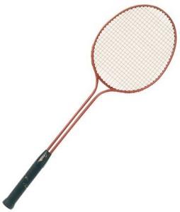 Champion Sports Double Steel Frame Badminton Racket G4 Strung