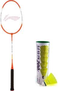 Li-Ning XP 709 Badminton Racket + 1 Mavis 200i Shuttlecock (Pack of 6 pc) G4 Strung
