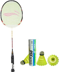 Li-Ning XP G-Tek-68 Badminton Racket + 1 Mavis 350 Shuttlecock (Pack of 6 pc) G4 Strung