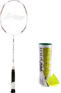 Li-Ning XP G-Tek-58 Badminton Racket + 1 Mavis 200i Shuttlecock (Pack of 6 pc) G4 Strung