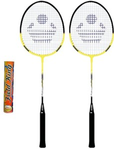 Cosco CB-90 Badminton Racket Pair With Field King Badminton Shuttle Cock ( Pack of 10 )- Badminton Kit G5 Strung