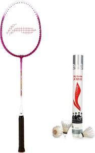 Li-Ning XP 708 Badminton Racket + 1 A+62 Shuttlecock (Pack of 6 pc) G4 Strung