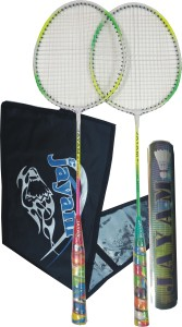 JAYAM RANGEILA TRIPLE (2 RACKET + 10 SHUTTLE + BAG) G4 Strung