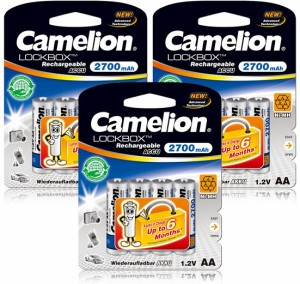 Camelion NH-AA2700LBBP4 x 3 Packs Rechargeable Ni-MH Battery