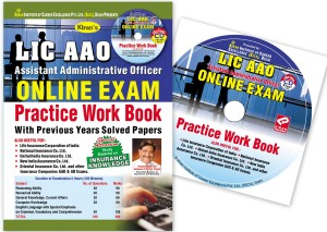 LIC AAO Assistant Administrative Officer Online Exam Practice Work Book  with Previous Years Solved Papers (With CD)Paperback, Kiran Prakashan