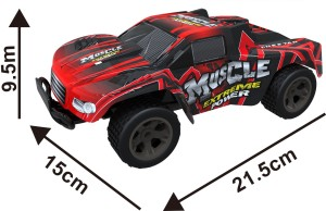 Toys Bhoomi CHEETAH KING 2 4GHz 1:18 EXTREME POWER High Speed RC Muscle  Drift Car with Pistol grip remoteRed