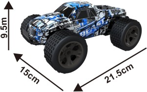 Toys Bhoomi CHEETAH KING 2 4GHz 1:18 EXTREME POWER High Speed RC Beast  Slayer Drift Car with Pistol grip remote controllerBlue