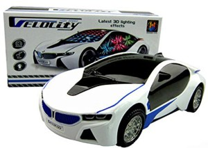 vishwakarma enterprises 3d lighting super car toy white best price