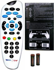 Tata Sky White Genuine Universal with User Manual (Sold by DIGILAND) Remote Controller