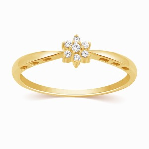Jewellery Ava 9kt Diamond Yellow Gold Ring