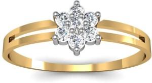 Avsar Rohini 14kt Swarovski Crystal Yellow Gold ring