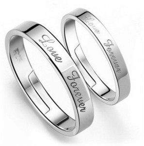 aee3b6a9c7 Access-o-risingg 925 Silver Plated Love Forever Promise Couple Ring ( Adjustable Size