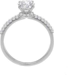 481307050262c Voylla Precious Plain Sterling Silver Swarovski Crystal Ring