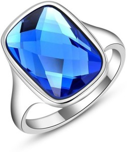 b8d273029 Carina Opal Blue Crystal Swarovski Crystal 18K White Gold Plated Ring Best  Price in India | Carina Opal Blue Crystal Swarovski Crystal 18K White Gold  Plated ...