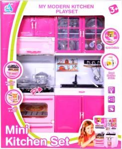 Montez Modern Mini Kitchen Play Set Pink Best Price In India