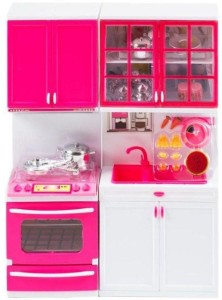 A M Enterprises Pink Plastic Kitchen Set Best Price In India A M