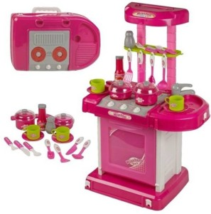 Emob Big Size Battery Operated Portable Musical Kitchen Set With