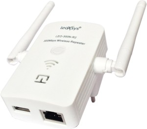 Leoxsys 300M WiFi Repeater Wireless 11N signal Booster range extender Router with 2x3dBi Antenna Router