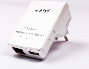 Leoxsys 300M WiFi Repeater Wireless 11N signal Booster range extender Router