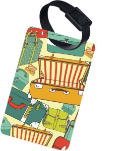 The Crazy Me VINTAGE SUITCASE Luggage Tag