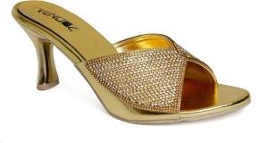Vendoz Women Golden Heels