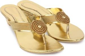 London Steps Women Golden Heels