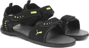 Puma Men Black Limepunch Sports Sandals Best Price in India  e5e166771a98