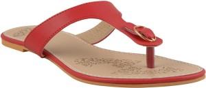 Adorn Women Red Flats