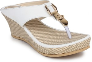 Dignity Women White Wedges