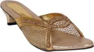 Footshez Women Golden Heels