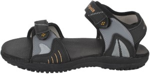 7f3ea6799a1 Action Campus Men Black Golden Sandals Best Price in India