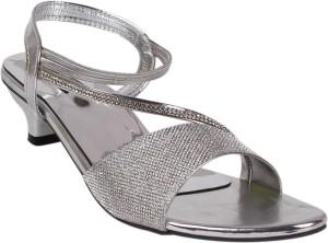 e6bb0b19b61 Classy Feet Women Silver Heels Best Price in India