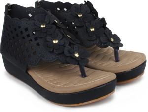 16a1c99d6226 London Steps Women Black Wedges Best Price in India