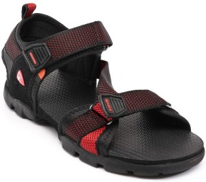 Sparx Men Black Red Sandals Best Price