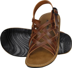 5055ff642b24 Kraasa Men Tan Sandals Best Price in India