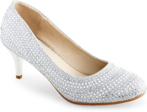 3e316fb27873 Shuz Touch Women Silver Heels Best Price in India