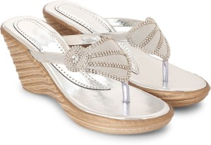 Star Style Women Silver Wedges