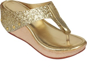 Art Sole Women Golden Wedges