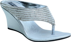 Remson India Women Silver Wedges