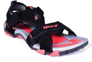 Sparx Men Black Red Sandals Compare