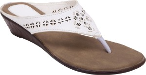 6f2c517d22f7 Trotters Women White Dark Brown Wedges Best Price in India ...