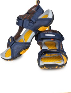 fcab304a1cf Sparx Men Navy Blue Yellow Sandals Best Price in India