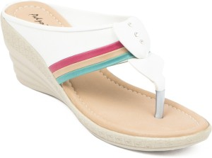 Adjoin Steps Women White Wedges