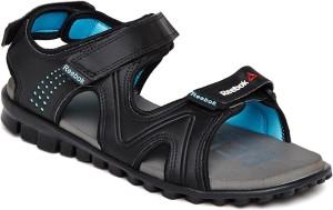 7972c8b69a22 Reebok Women BLK CRISP BLUE FLAT GREY Sports Sandals