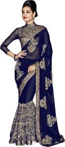 Aashvi Creation Embroidered, Self Design Bollywood Georgette Saree